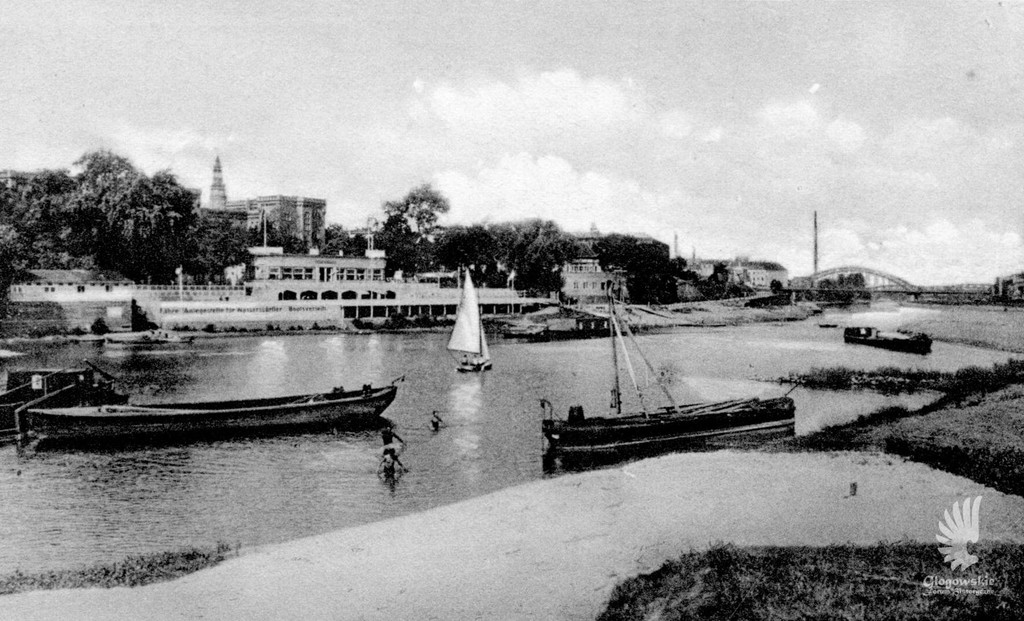 View with old riverbed of Odra, RuderclubNeptun