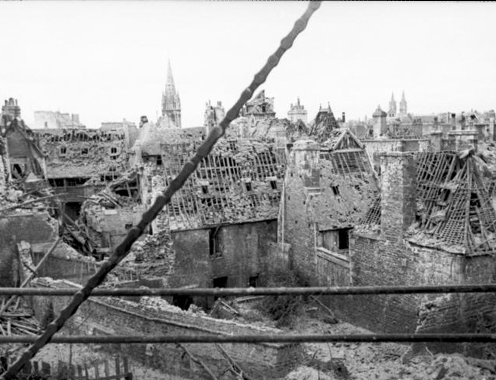 View from the castle of Caen on the destroyed city