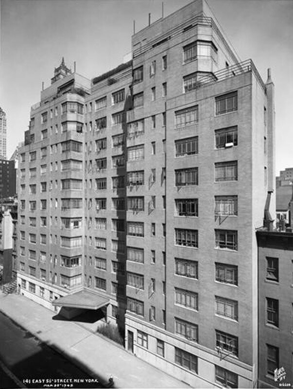 141 East 56th Street. Apartment building, exterior.