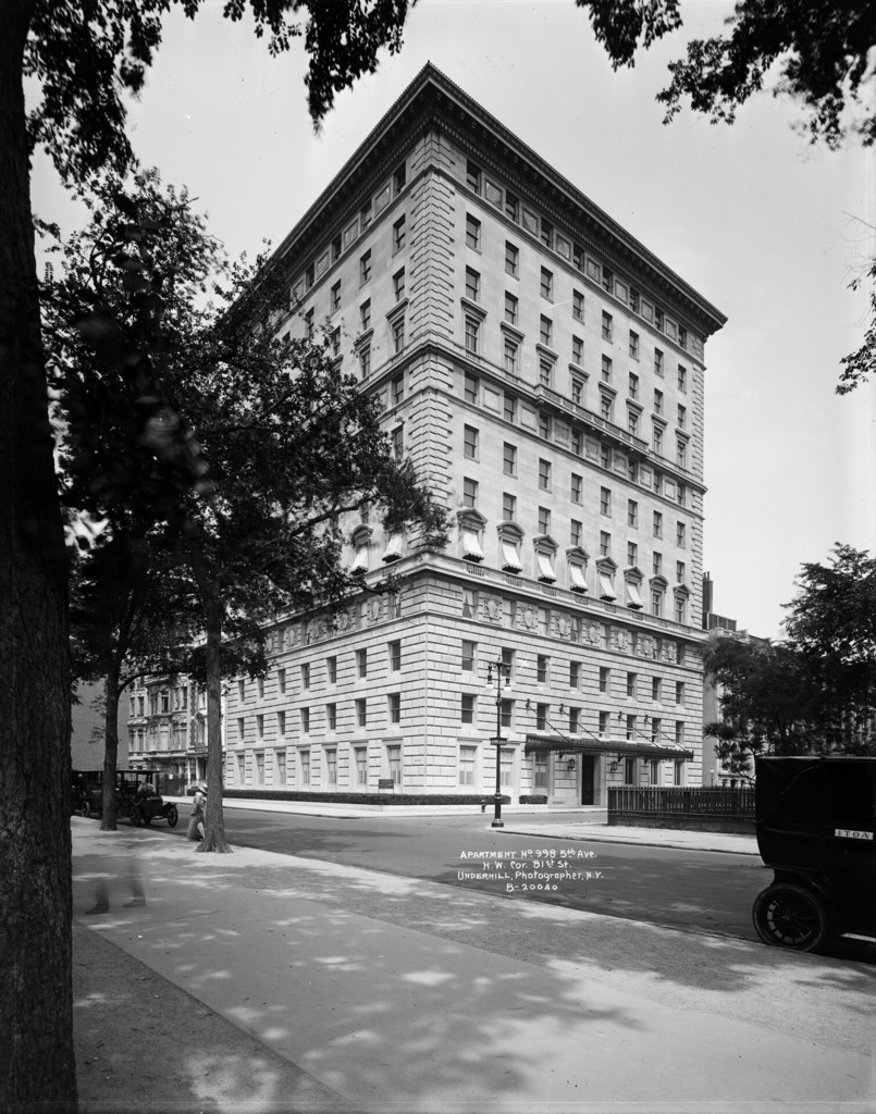 Apartment No. 998 Fifth Avenue, northwest corner East 81st Street