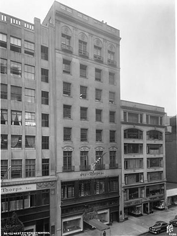 24-26 West 57th Street. J. Thorpe building, front view.
