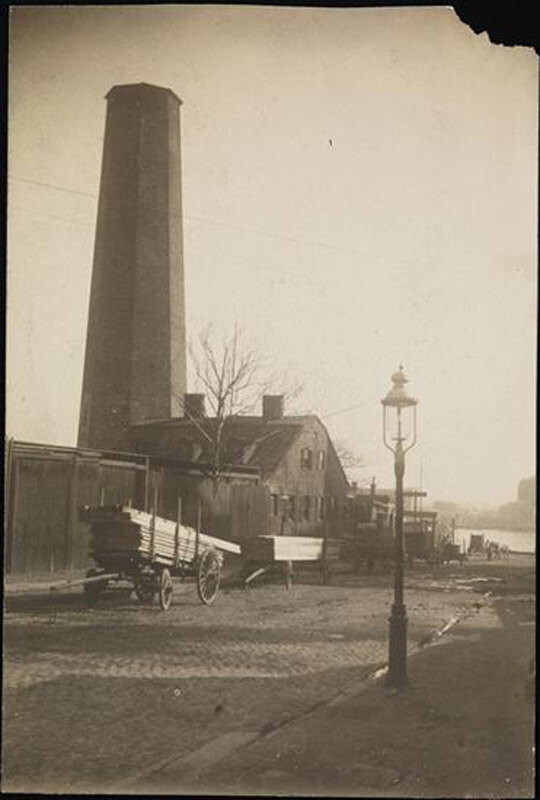 Shot tower, east 53rd Street and East river