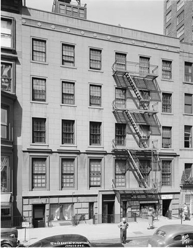 59-63 East 56th Street. Apartment building and stores.