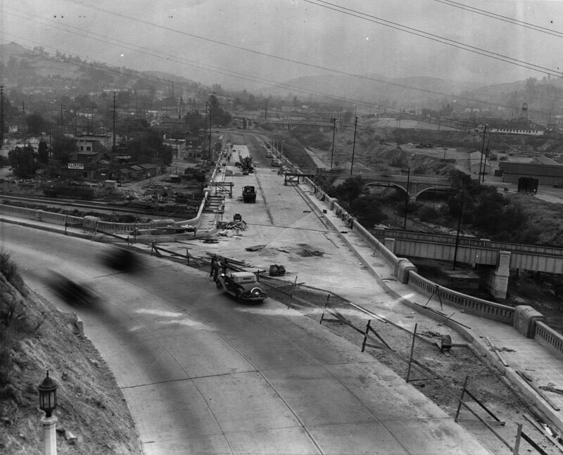 Construction of Arroyo Seco speedway