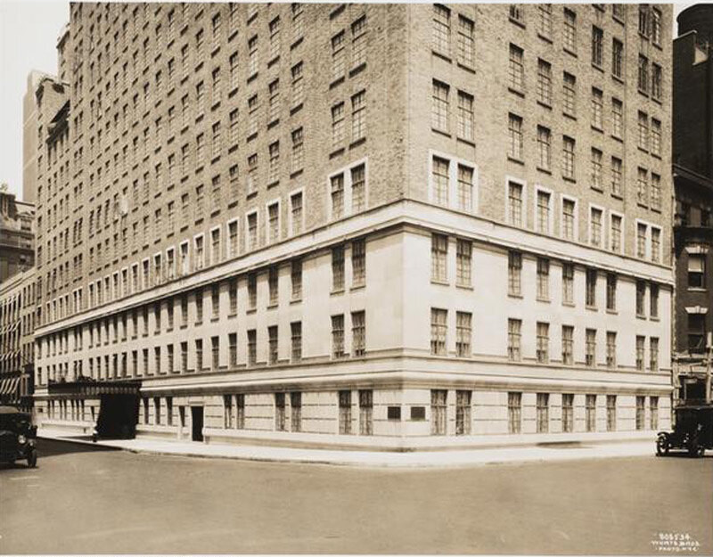 East 56th Street and Park Avenue, northwest corner. Hotel Drake, lower levels