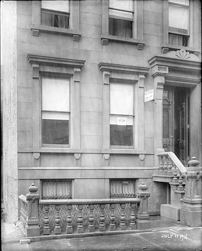 110 East 86th Street. Detail lower stories to north wall.