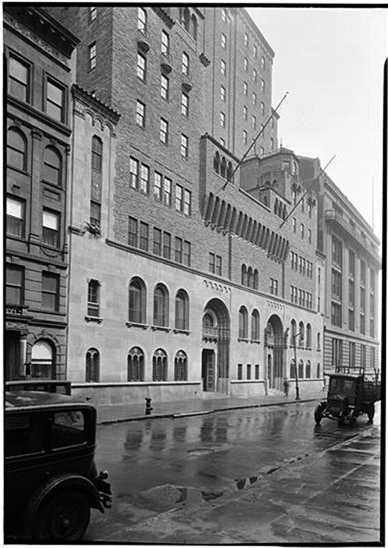 Y.M.C.A. General view from west. 5 West 63rd Street