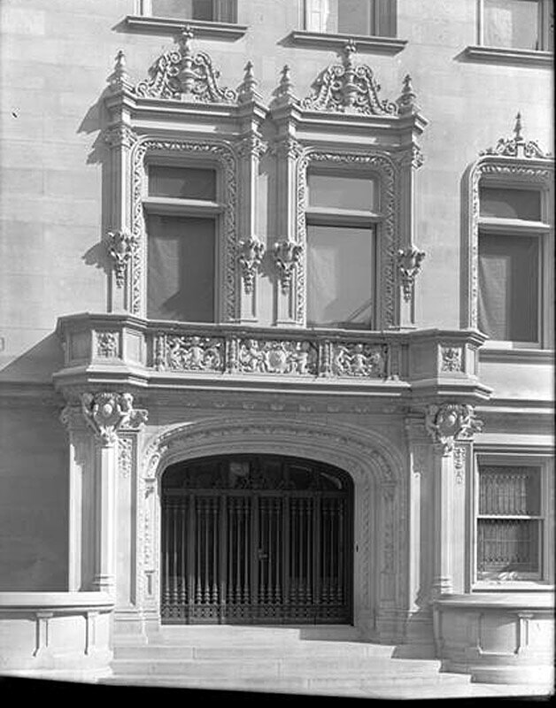 79th Street and 5th Avenue. Fletcher residence, entrance.