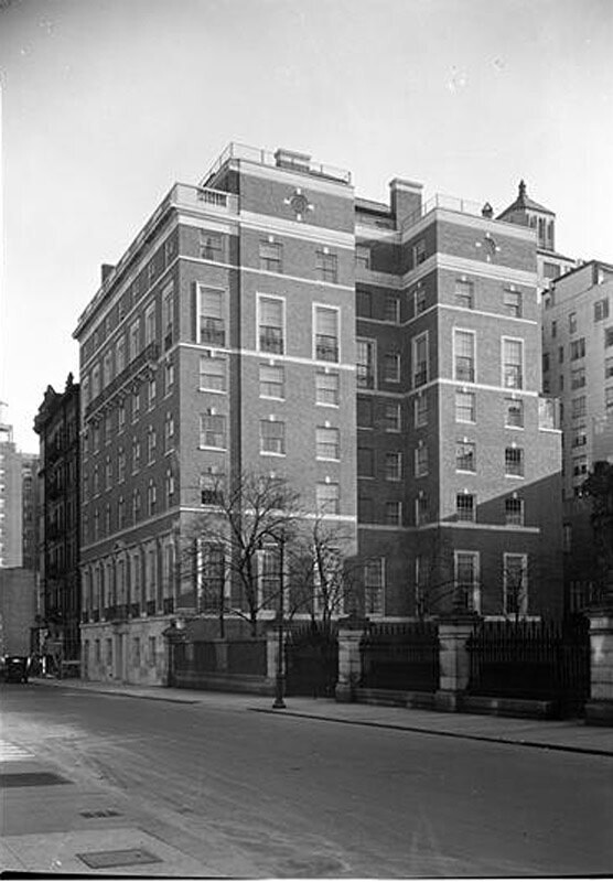 The Spence School, 22 East 91st Street, NYC. General exterior from west.