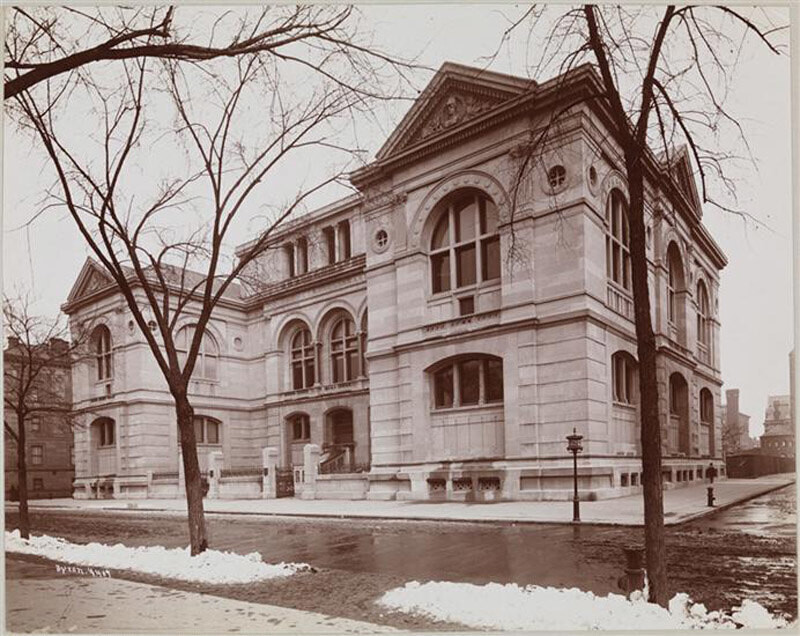 Lenox Library, 5th Ave. & 70th St., 1897